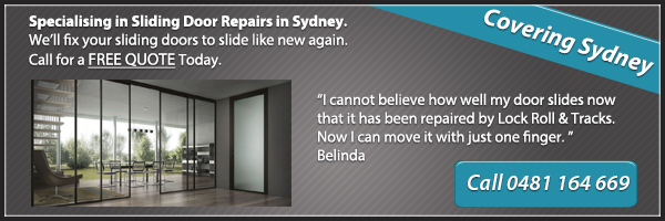 sliding door repair services sydney